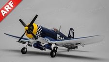 Airfield RC Plane 4 Channel F4U Corsair 800mm Almost Ready to Fly  (Blue)