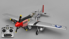 Airfield RC P51 Warbird 6 Channel Ready to Fly 2.4ghz 1450mm Wingspan (Red)