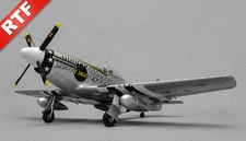 Airfield RC Plane  6 Channel P51 Mustang Warbird 1100mm Wingspan Ready to Fly 2.4ghz (Green)