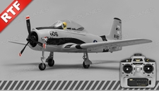 Airfield T28 Trojan 2.4ghz 4 Channel Ready to Fly 2.4Ghz  800mm Wing Span (Grey)