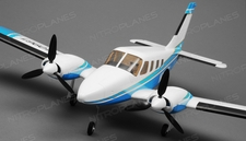 Tex RC  PA34 Civilian Aircraft 4 Channel Ready to Fly 2.4ghz Wingspan 900mm