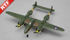 Art Tech Mini P38 RC 4 Channel Warbird Ready to Fly 800mm Wingspan