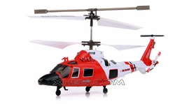 Syma S111G 3 Channel RC Indoor Mini Co-Axial Infared MH-68A Hitron U.S Coast Guard RC Helicopter w/ Built in Gyro (Red)