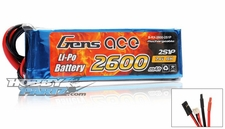 Gens Ace Lipo Battery for Receiver 7.4v 2600mAh