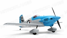 "New  5 Channel AeroSky Midget Mustang 55"" Scale Remote Control Plane ARF (Blue)"