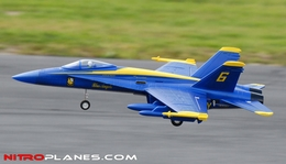 "2.4G Extreme Detail 4-Channel AirField RC Blue Angel F18C 670mm (26.4"") Radio Control EDF Jet w/ Brushless Motor/ESC/Lipo 100% RTF *Super Scale* Ducted Fan RC Jet (Blue)"