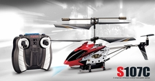 Syma S107C 3channel Coaxial Mini Spy Cam Helicopter (Red)