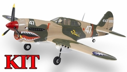 AirField 6-CH 1400mm P40 (Flying Tiger) Radio Control Warbird Plane Kit (No Electronics) w/ 90 Degree Landing Gear