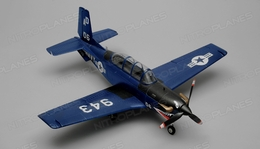 Airfield RC T34 Mentor RC 4 Channel Almost Ready to Fly ARF Wingspan 750mm (Blue)