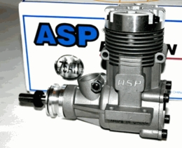 ASP-12.4CC Size .75 2-Stroke Glow Engine with Muffler for Nitro RC Planes