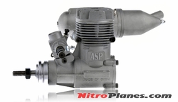ASP S40A  2 Stroke Glow Engine with Muffler for Airplane