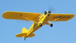 Airfield 1400mm Electric Brushless 4-Ch Super J3  Remote Control RC Plane ARF (Yellow)