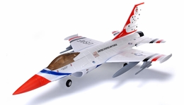 2.4Ghz AirField 70MM F16 Brushless EDF Jet Electric Ducted Fan RC Jet w/ Bombs RTF (Thunderbird)
