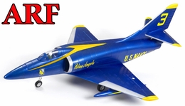 4-CH AirField 64mm A4 Ducted Fan RC Jet Receiver-Ready w/ Brushless Motor+ESC (Blue Angel)