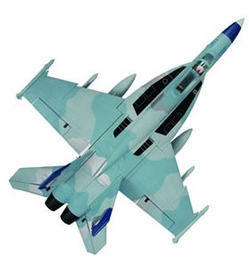 High Performance MaxJet 4-CH F-18E Sky Camo RC Fighter Jet w/ 64MM EDF Fan (Kit Version)