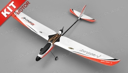 Tech One Hobby Mercury Trainer 4-Channel RC Airplane Kit with Motor (Red)