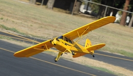 Dynam 4-CH J3 Piper Cub 1245mm Brushles Radio Remote Control Scale RC Plane 2.4G RTF (Yellow)