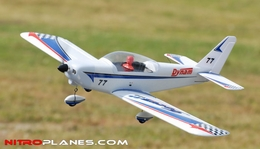 Dynam 4-CH Focus 400-EP Brushless Electric Aerobatics 3D RC Remote Control Airplane RTF (Blue)