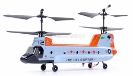 2.4Ghz Esky Tandem Rotor 4CH RC Chinook Helicopter Orange