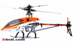 Orange E-Sky 900 500-Class RC Helicopter Kit w/ Carbon Fiber and Aluminum parts