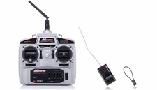 Exceed RC 2.4Ghz 4 Channel Transmitter + 6Ch Receiver Complete Radio System for RC Helicopters + Airplanes
