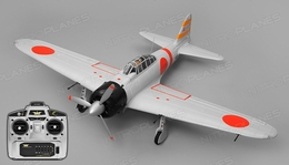 Airfield RC A6M Zero Ready to Fly 6 Channel Warbird 1450mm Wingspan (Grey)