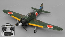 Airfield RC A6M Zero Ready to Fly 6 Channel Warbird 1450mm Wingspan (Green)