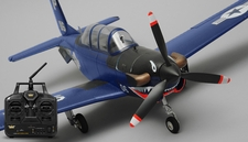 Airfield T34 Mentor RC 4 Channel Ready to Fly RTF Wingspan 750mm (Blue)