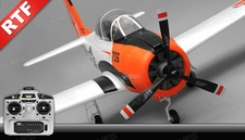 Airfield RC Plane  6 Channel T28 Trojan 1450MM 6 Channel Warbird Ready to Fly 2.4Ghz (Red)