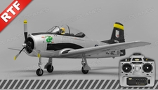 Airfield T28 Trojan 2.4ghz 4 Channel Ready to Fly 2.4Ghz  800mm Wing Span (Silver)