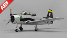 Airfield T28 Trojan  4 Channel Almost Ready to Fly ARF 800mm Wing Span (Silver)