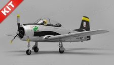 Airfield T28 Trojan  4 Channel Kit 800mm Wing Span (Silver)