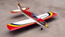 NitroModels Low Wing Trainer 60 Nitro Remote Control Airplane Kit (Red)