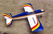 NitroModels Low Wing Trainer 60 Nitro Remote Control Airplane Kit (Blue)