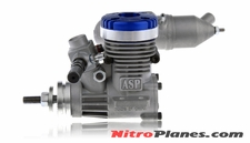 ASP S15A  2 Stroke Glow Engine with Muffler for Airplane