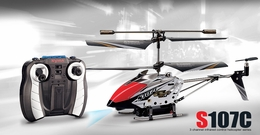 Syma S107C 3channel Coaxial Mini Spy Cam Helicopter (Black)