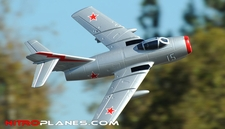 Exceed RC 2.4Ghz Mig-15 70MM Electric Ducted Fan Remote Control KIT Airframe w/ Metal Electric Landing Gear (Silver)