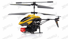 New V398 3.5 Channel Missile Shooting RC Helicopter RTF with Six Missiles rapid fire