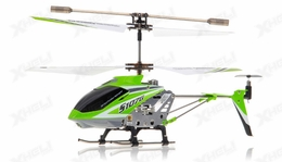 Syma 3 Channel S107G Mini Indoor Co-Axial  RC Helicopter w/ Gyro (Green)