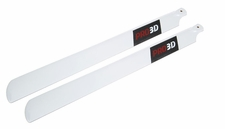 EXI-500 Carbon Fibre Main Blade for Electric 500-Class RC Helicopter (430mm-White)