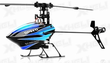 WL Toys V922 RC CCPM 6 Channel Flybarless Helicopter Ready to Fly (Blue)