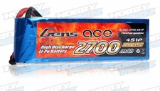Gens Ace 2700mAh 35C 14.8v Lipo Battery