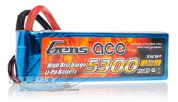 Gens ace LIPO Battery   5300mAh 60-120C 11.1V