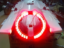 Lighting System B with After Burner for RC Lander RC Jet (RCL16)