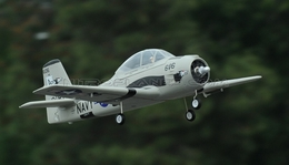 2.4GHz Airfield T-28 Trojan 800mm RC Warbirds RTF w/ Brushless Motor+ESC+Everything (Grey)