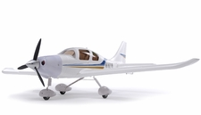 2.4Ghz Extreme Detail 4-Channel AirField RC Sky Trainer 400 Radio Control Airplane w/ Brushless Motor/ESC/Lipo 100% RTF *Super Scale* EPO Foam Plane (White)
