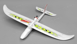 Airwing RC WingSurfer Airplane Glider 4 Channel Almost Ready to Fly RC 1400mm Wingspan (Green)
