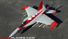 Exceed RC 4-CH 70mm Red Viper F18 Radio Remote Control RC EDF Jet ARF