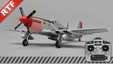 Airfield P51 RC 4 Channel Warbird Ready to Fly 2.4Ghz 800mm Wingspan (Silver)