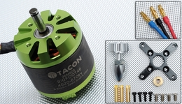Tacon Big Foot 46 Brushless Out Runner Motor for Airplane (670KV)